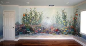 Nástenná maľba na mieru - podmorský svet